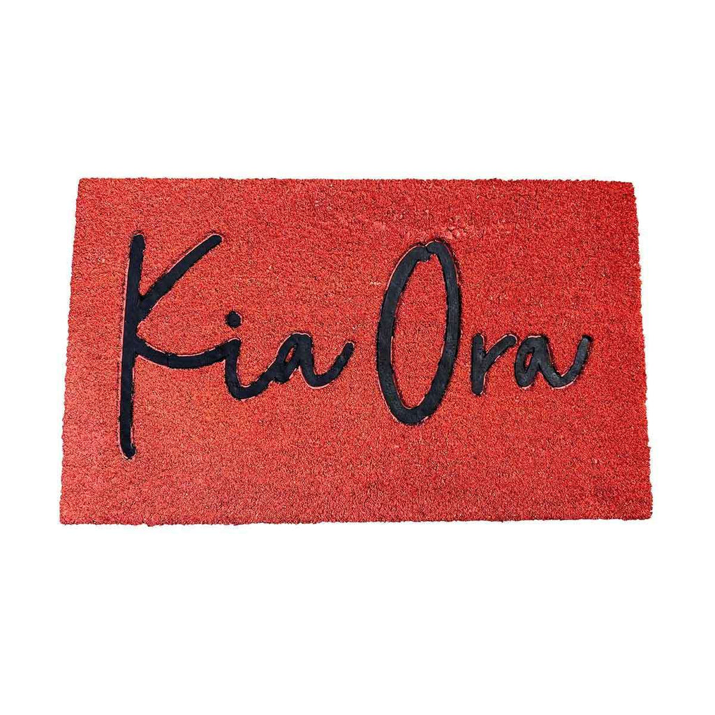 Coir Mat Kia Ora Pacific Coral | Doormats | The Design Store NZ