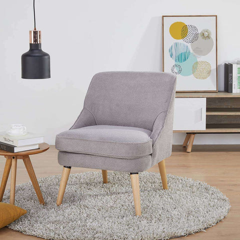 Halifax Occasional Chair Dimpled Light Grey | Armchairs and Occasional Chairs | The Design Store NZ