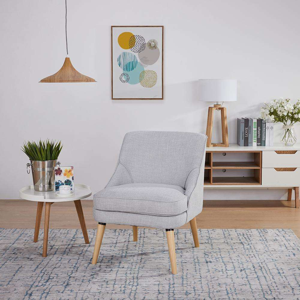 Halifax Occasional Chair Plain Light Grey | Armchairs and Occasional Chairs | The Design Store NZ