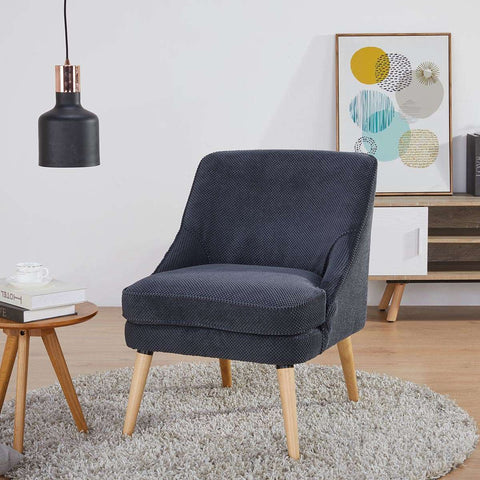 Halifax Occasional Chair Dimpled Dark Grey | Armchairs and Occasional Chairs | The Design Store NZ