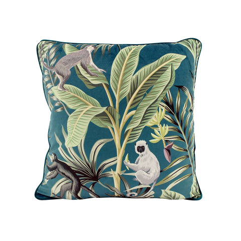 Jade Jungle Velvet Cushion | Cushions | The Design Store NZ