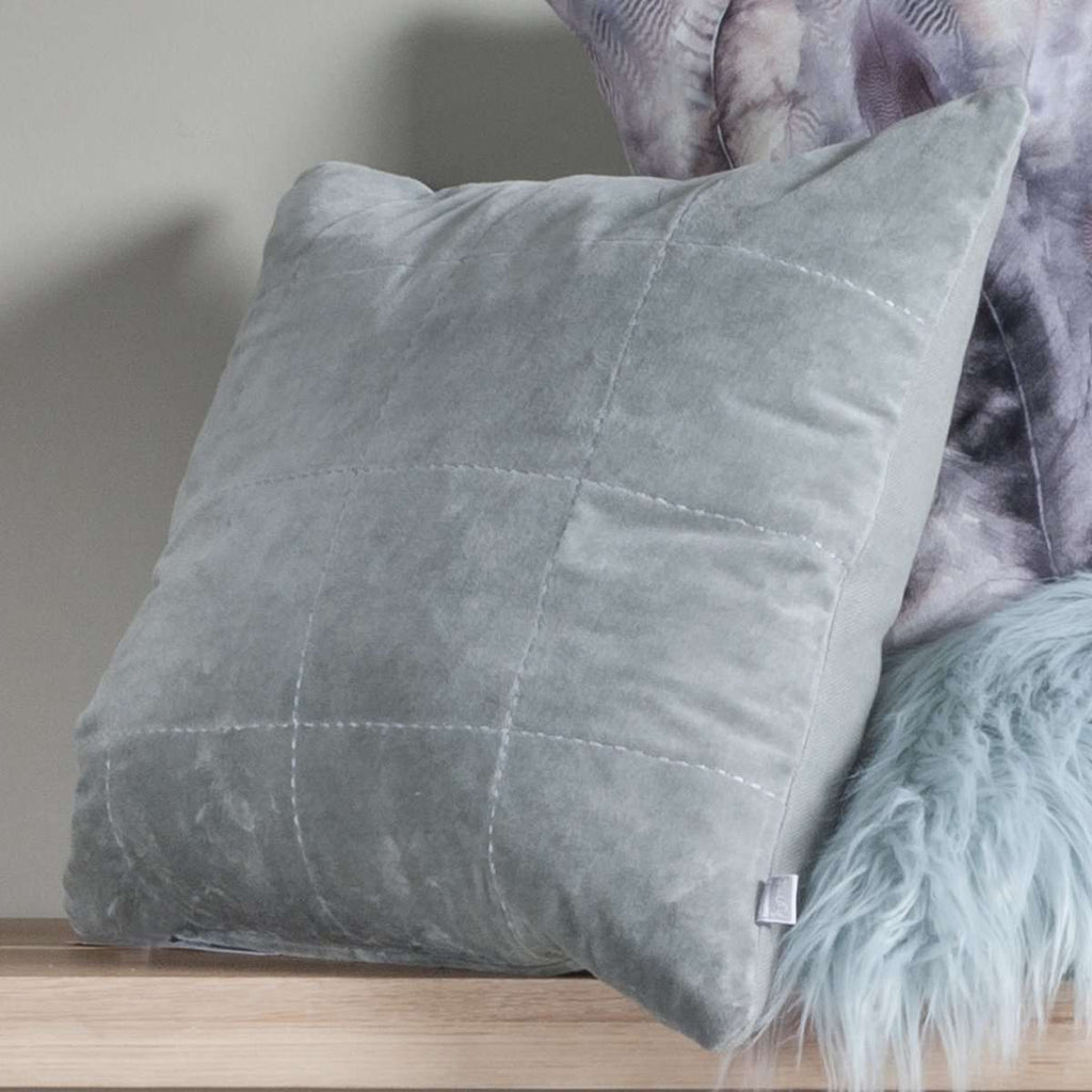 Kirkby Stabstitch Velvet Cushion | Cushions | The Design Store NZ