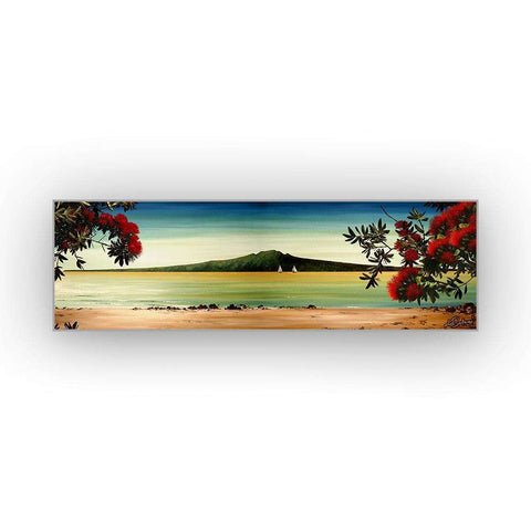 Mounted Canvas Pohutukawa on Mission Bay | Wall Art | The Design Store NZ