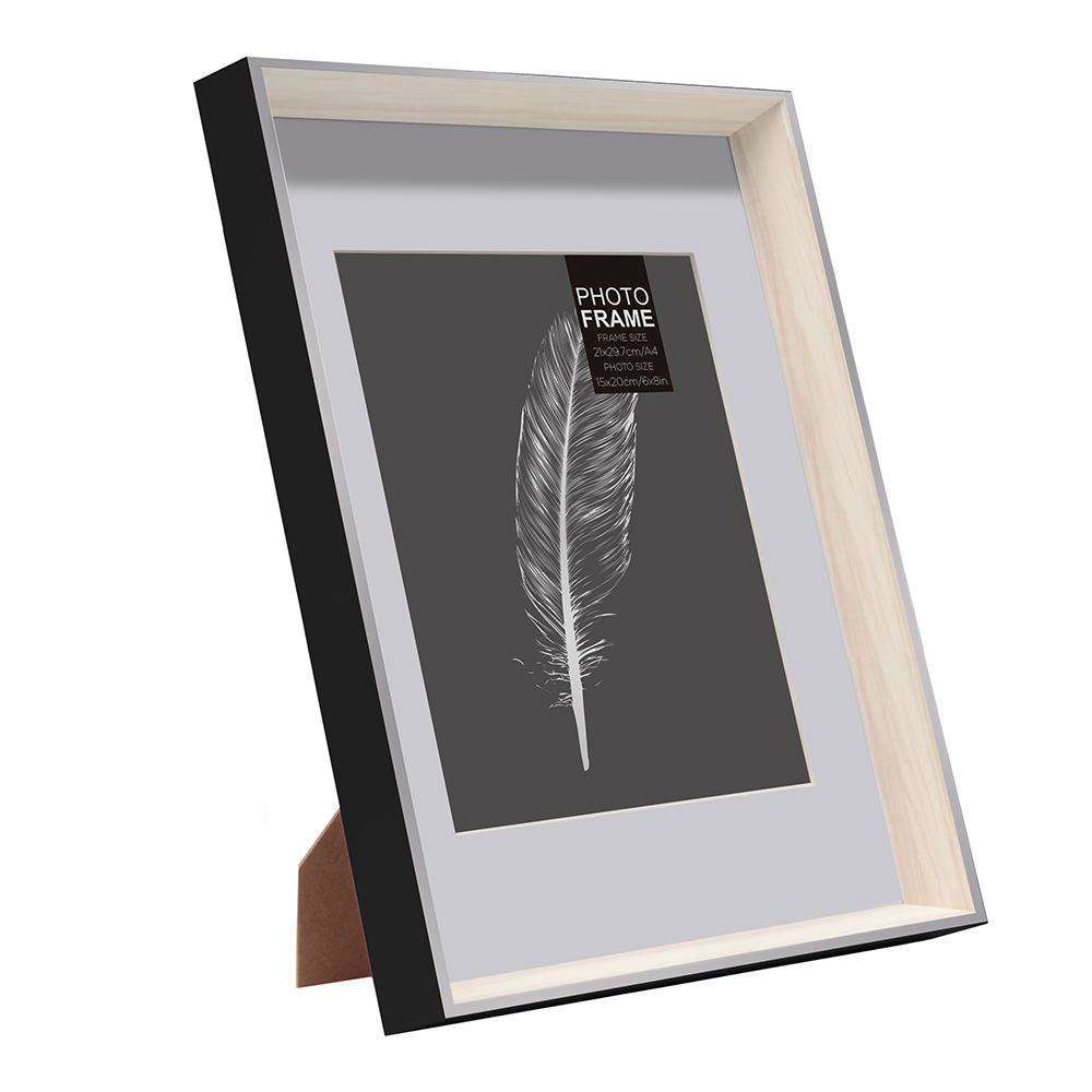 Photo Frame Foiled Feather With Mat | Photo Frames | The Design Store NZ