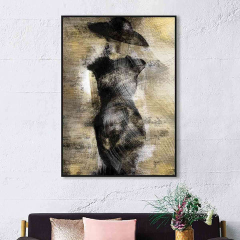 PRE ORDER Black Hat Gold Lady | Wall Art | The Design Store NZ