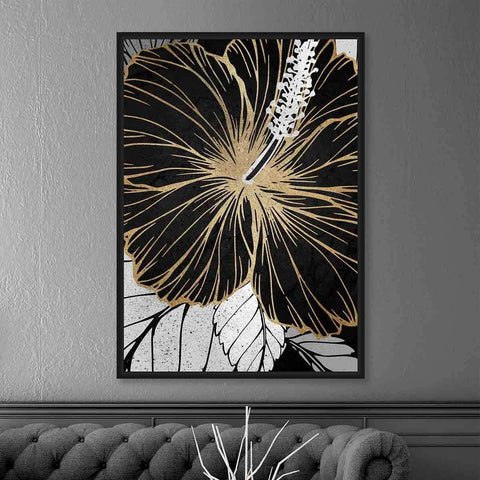 Flowering Single Gold Leaf | Wall Art | The Design Store NZ