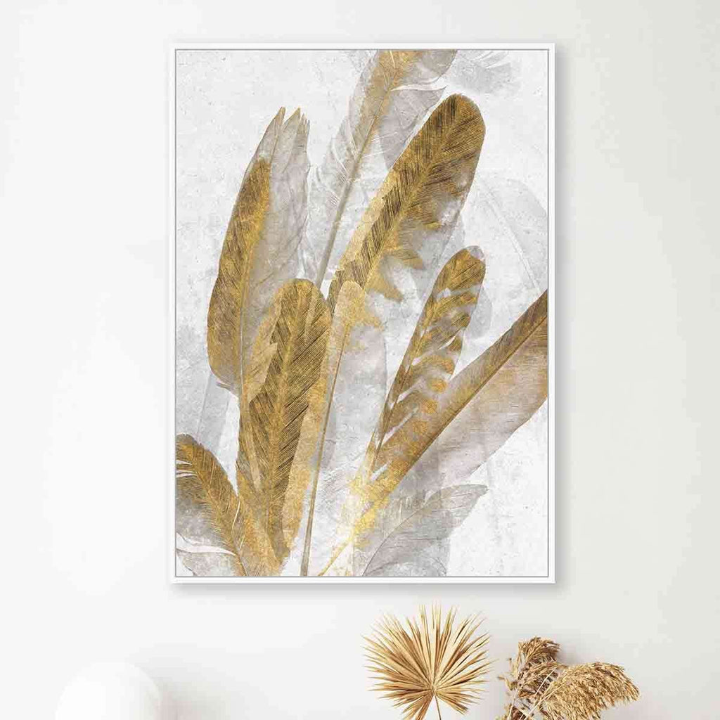 Gold Mutli Feather | Wall Art | The Design Store NZ