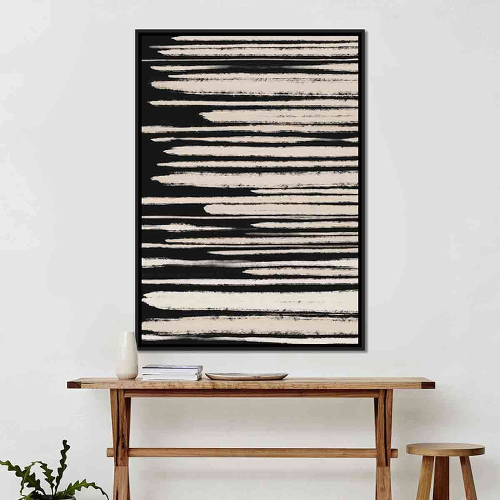 Gold Strokes On Black Frame | Wall Art | The Design Store NZ