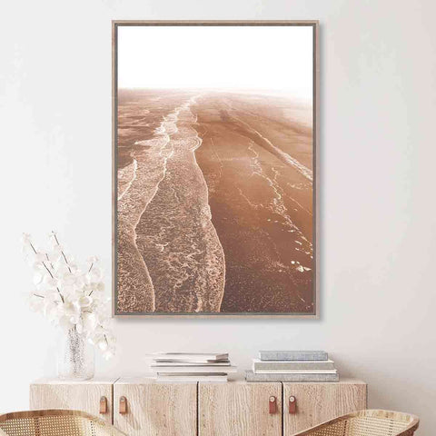 PRE ORDER Lapping Waves Beach | Wall Art | The Design Store NZ