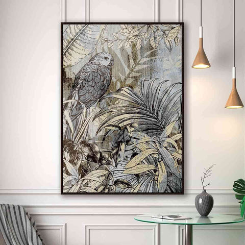PRE ORDER Parrot On Gold | Wall Art | The Design Store NZ