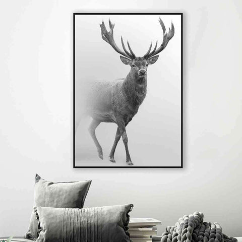PRE ORDER Standing Stag In Mist | Wall Art | The Design Store NZ