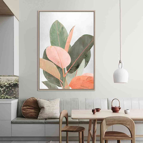 Tropical Colours Leaf Natural | Wall Art | The Design Store NZ