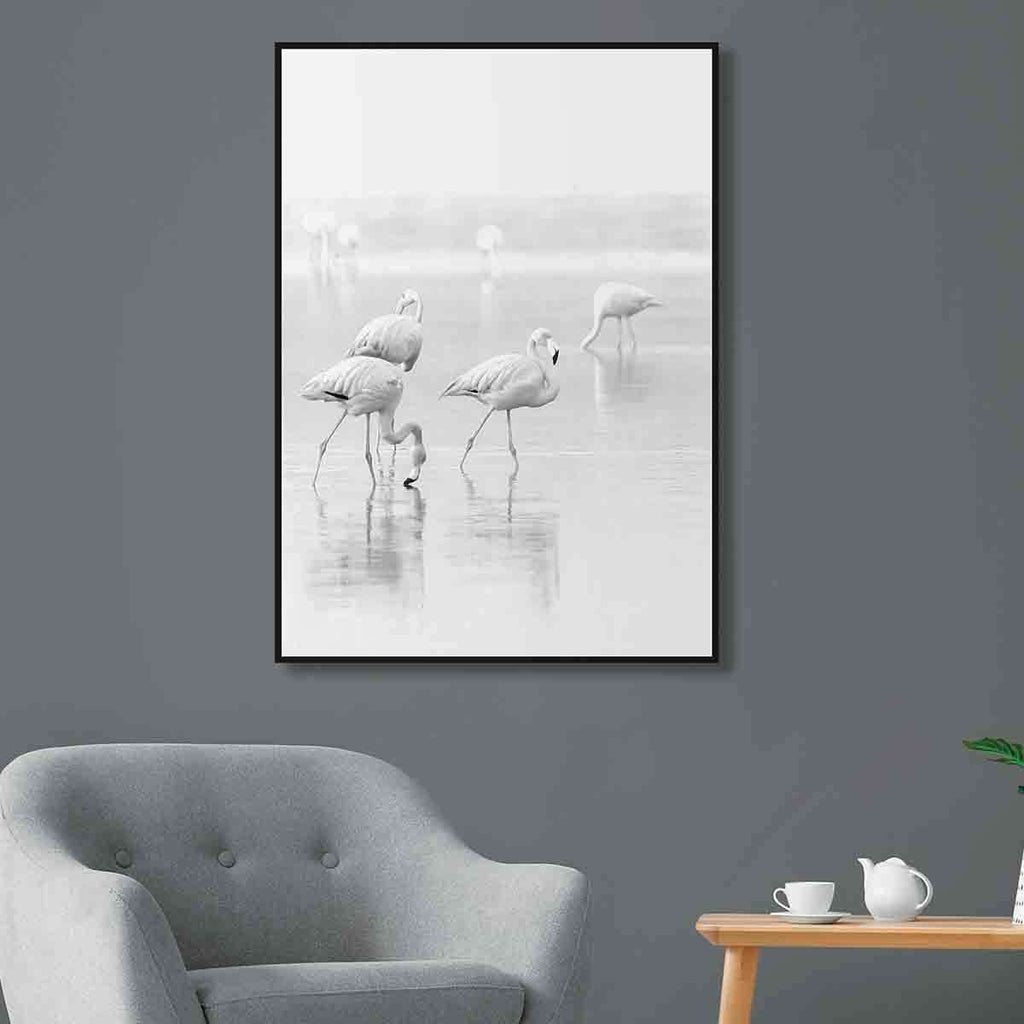 White Flamingo Standing | Wall Art | The Design Store NZ