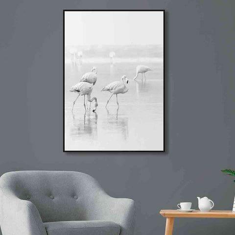 PRE ORDER White Flamingo Standing | Wall Art | The Design Store NZ