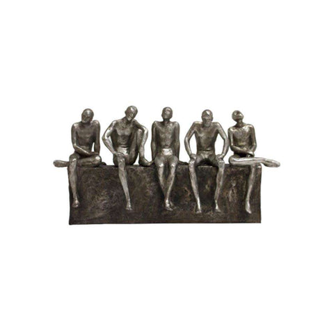 Sitting Men Statue 33cm | Sculptures | The Design Store NZ