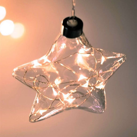 Star Hanging Glass Light Clear | Lighting | The Design Store NZ
