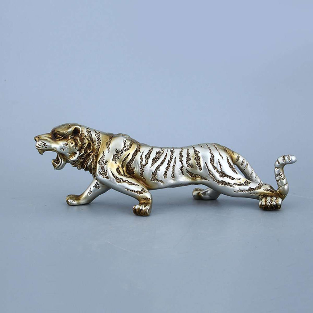 Tiger Sculpture Silver 29cm | Decorator Accents | The Design Store NZ