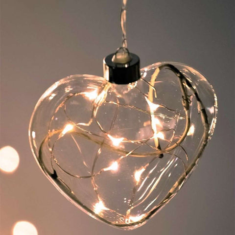 Winter Heart Hanging Glass Light Clear | Lighting | The Design Store NZ