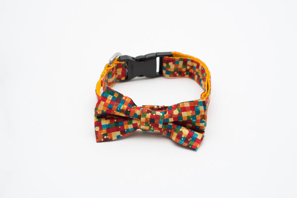 Collars - Cat Collars - Confetti Bow Tie Collar| LuxyPaws Pet Boutique