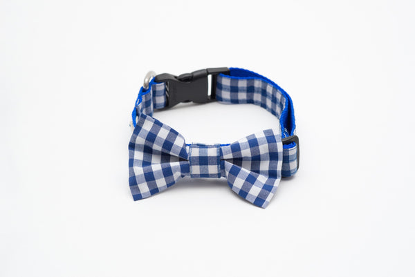 Collars - Dog Collars - LuxyBlue Square Bow Tie Collar | LuxyPaws Pet Boutique