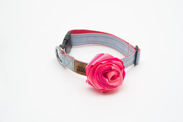 Collars - Dog Collars - Fleur D'amour Collar | LuxyPaws Pet Boutique