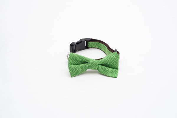 Collars - Cat Collars - Green Mojito Bow Tie Cat Collar With Elastic | LuxyPaws Pet Boutique