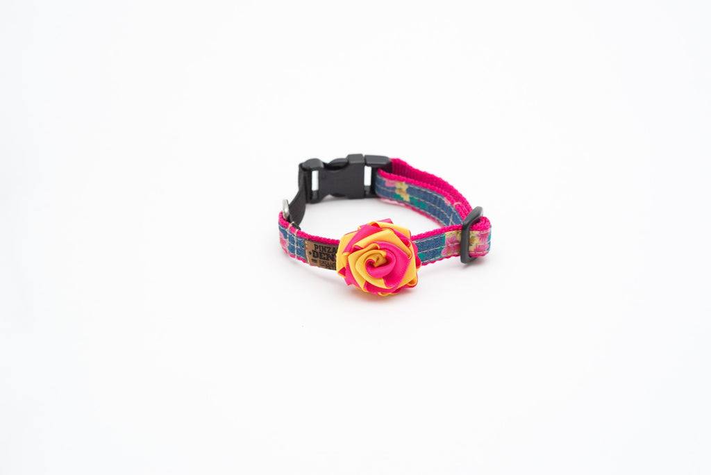 Collars - Cat Collars - Tropical Cat Collar With Elastic | LuxyPaws Pet Boutique