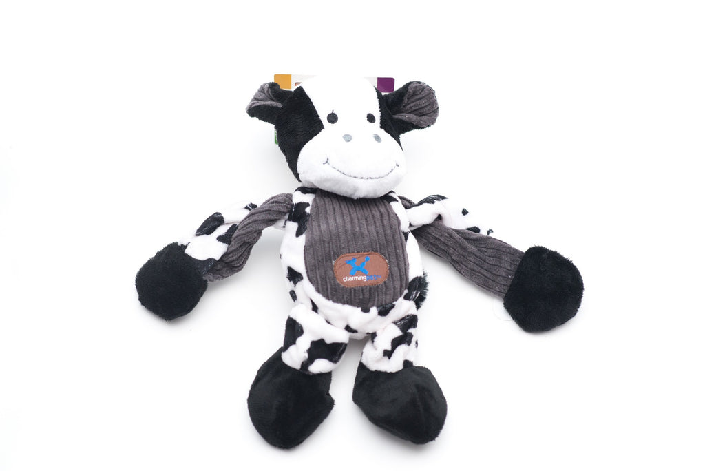Toys - Dog Toys - Pulleez Cow Toy by Charming Pet | LuxyPaws Pet Boutique
