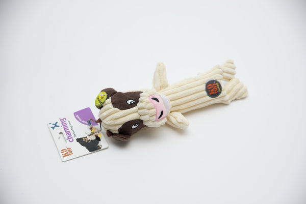 Toys - Dog Toys - Tennis Heads Cow Toy by Charming Pet | LuxyPaws Pet Boutique