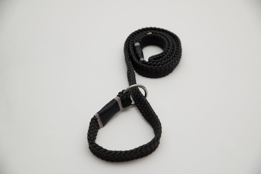 Leashes - Training Leashes - Black on Black Training Collar | LuxyPaws Pet Boutique