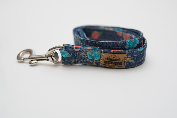 Leashes - Training Leashes - Rose Denim Training Leashes | LuxyPaws Pet Boutique