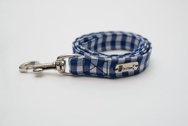 Leashes - Training Leashes - Luxyblue Squares Leash | LuxyPaws Pet Boutique
