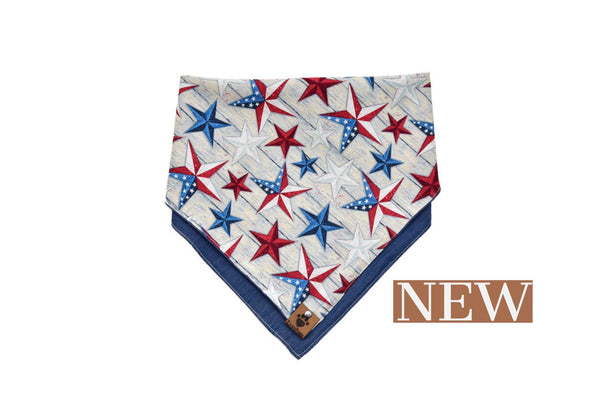 Patriotic Star Double Sided Bandana by LuxyPaws