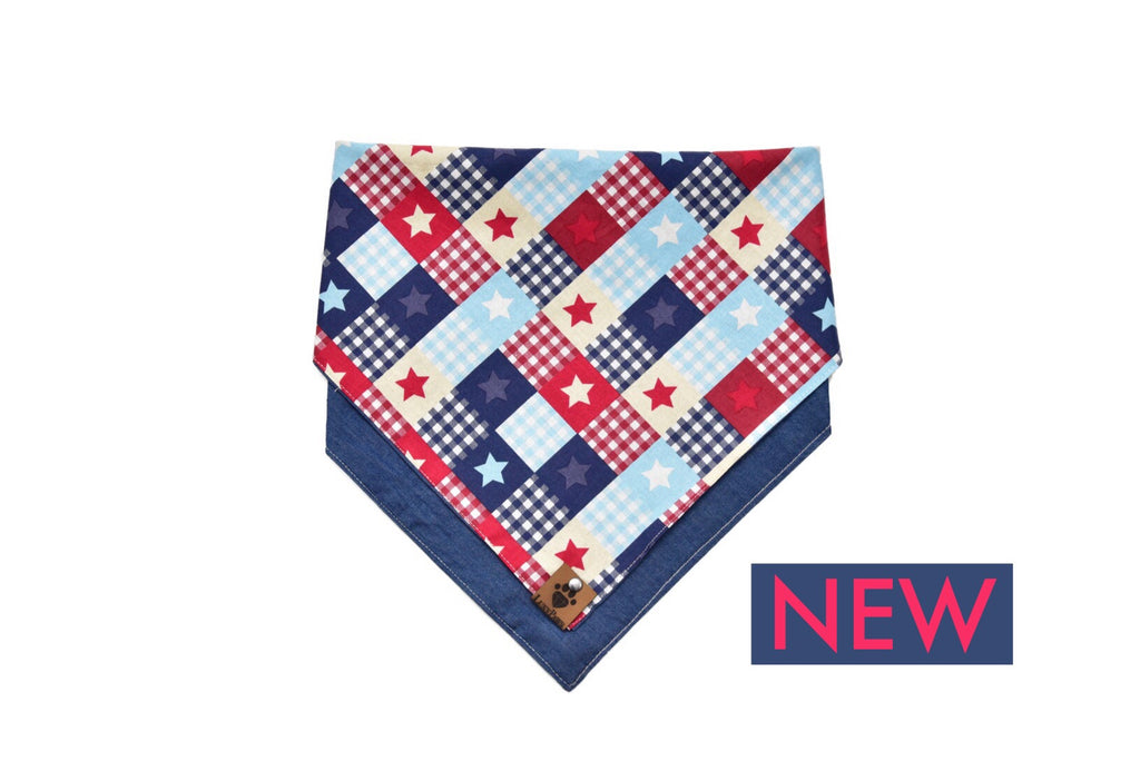 Patriotic Double Sided Bandana by LuxyPaws
