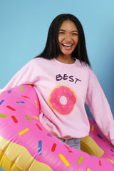 best friends donut crew neck