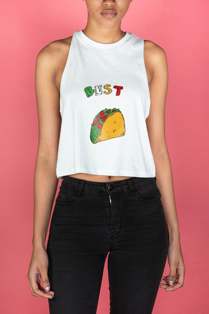 Best Tacos Cropped Tank