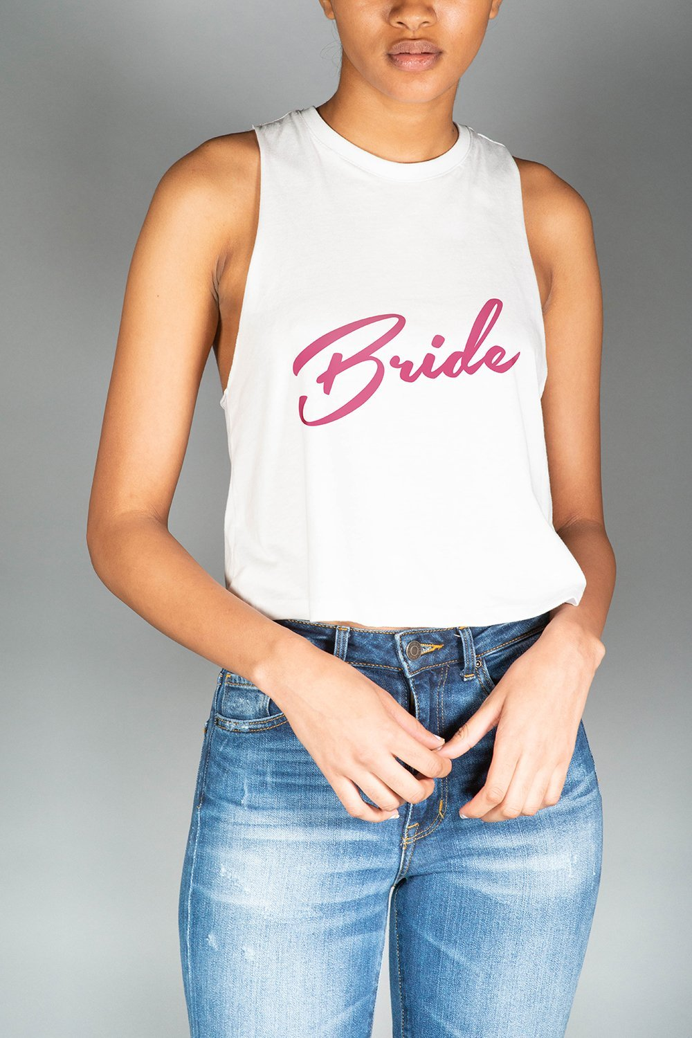 Bride Cropped Tank