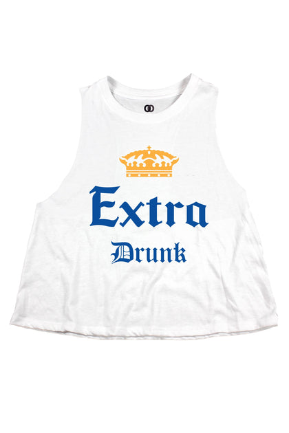 Extra Drunk Cropped Tank