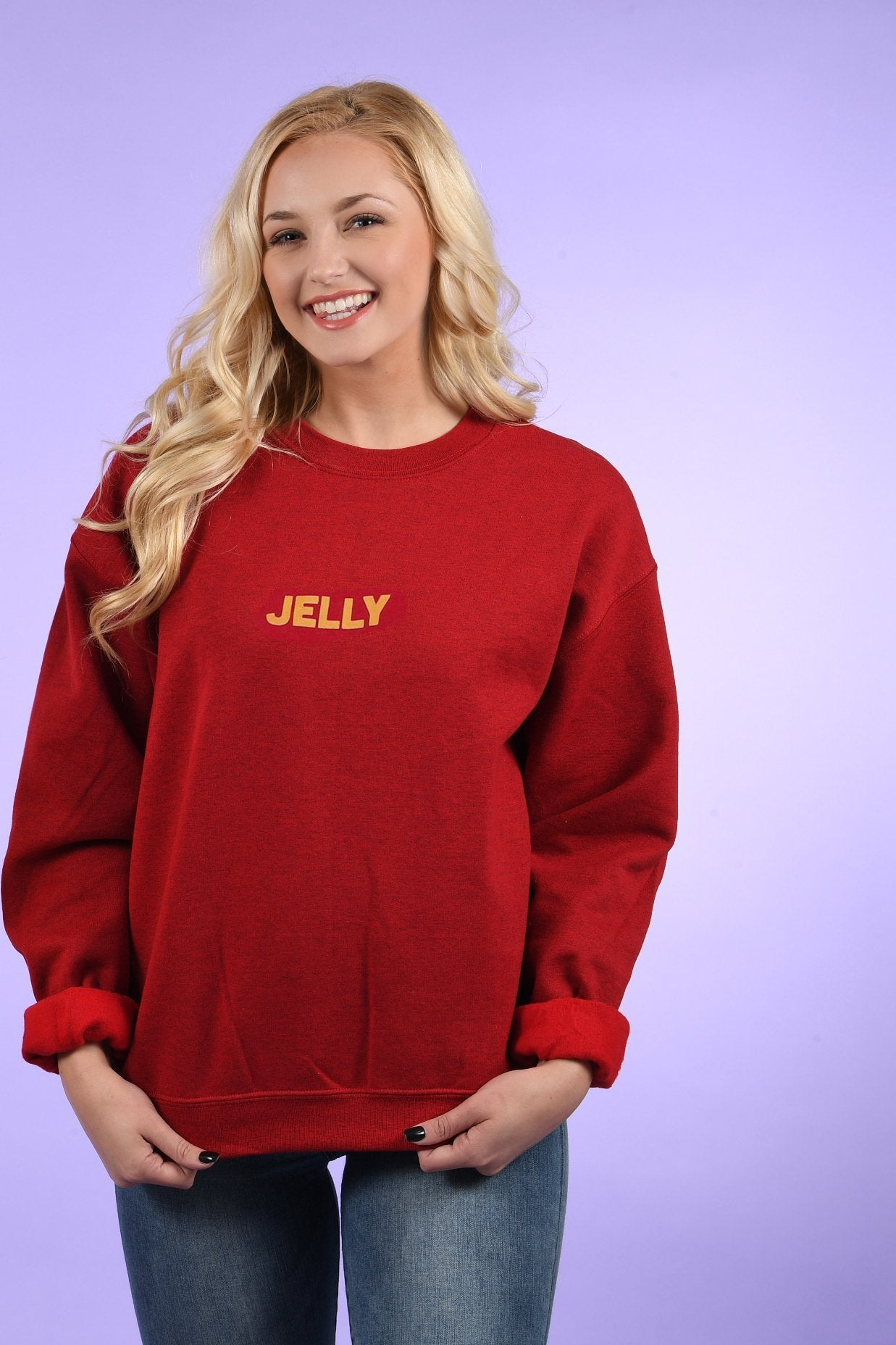 jelly crew neck