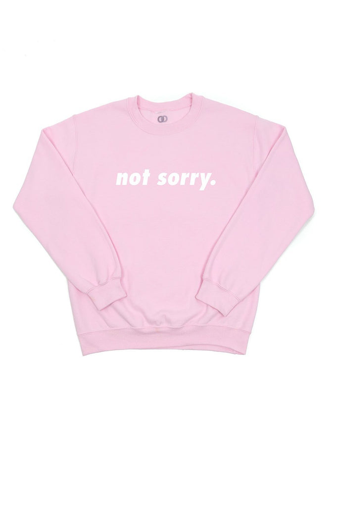 not sorry crew neck