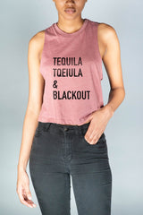 Tequila & Blackout Cropped Tank