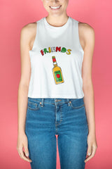 Tequila Friends Cropped Tank