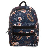 DC Wonder Woman Backpack  Double Zipper Backpack with Wonder Woman Symbols