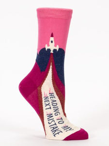 Heading to My Next Mistake Women's Socks