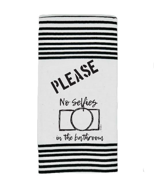 Please No Selfies Terry Towel