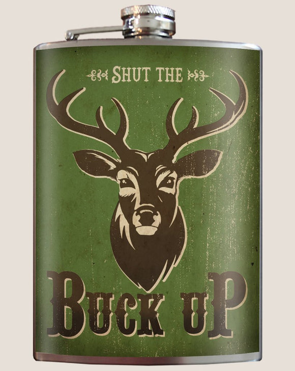 Shut the Buck Up Flask