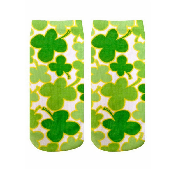 Four Leaf Clover Ankle Socks