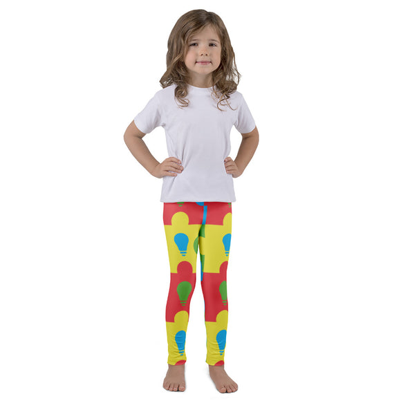 Lite It Up Blue Kid's leggings