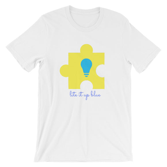 Lite It Up Blue Short-Sleeve Unisex T-Shirt