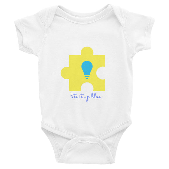 Lite It Up Blue Infant Bodysuit